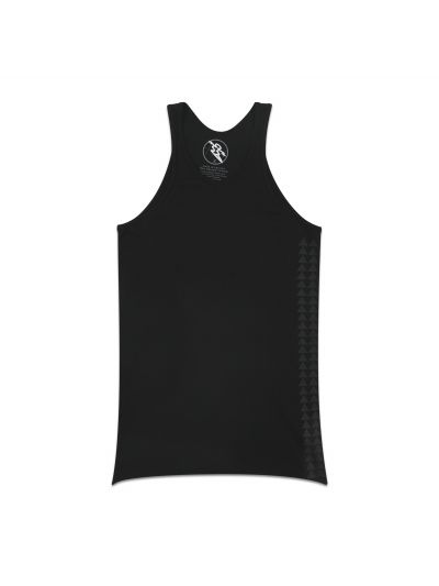 Mano Black Tank Top w/ Dark Grey Side Print - PREORDER