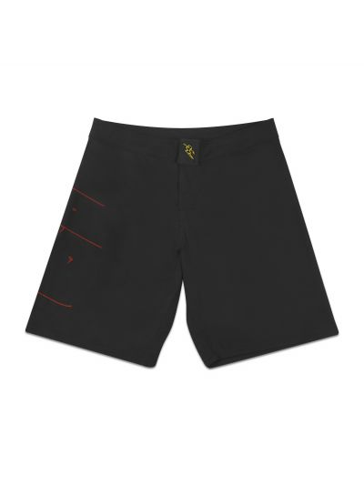 Aloha J Black Boardshort with Red Logo - PREORDER